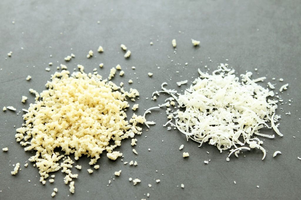 Vegan Parmesan Cheese - Comparison of Vegan Parm to Traditional Parm