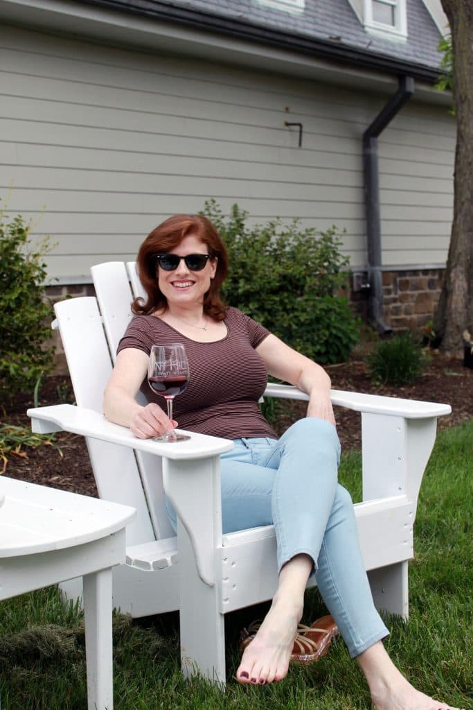 Vint Hill Craft Winery - Jana in Outdoor Sipping Area