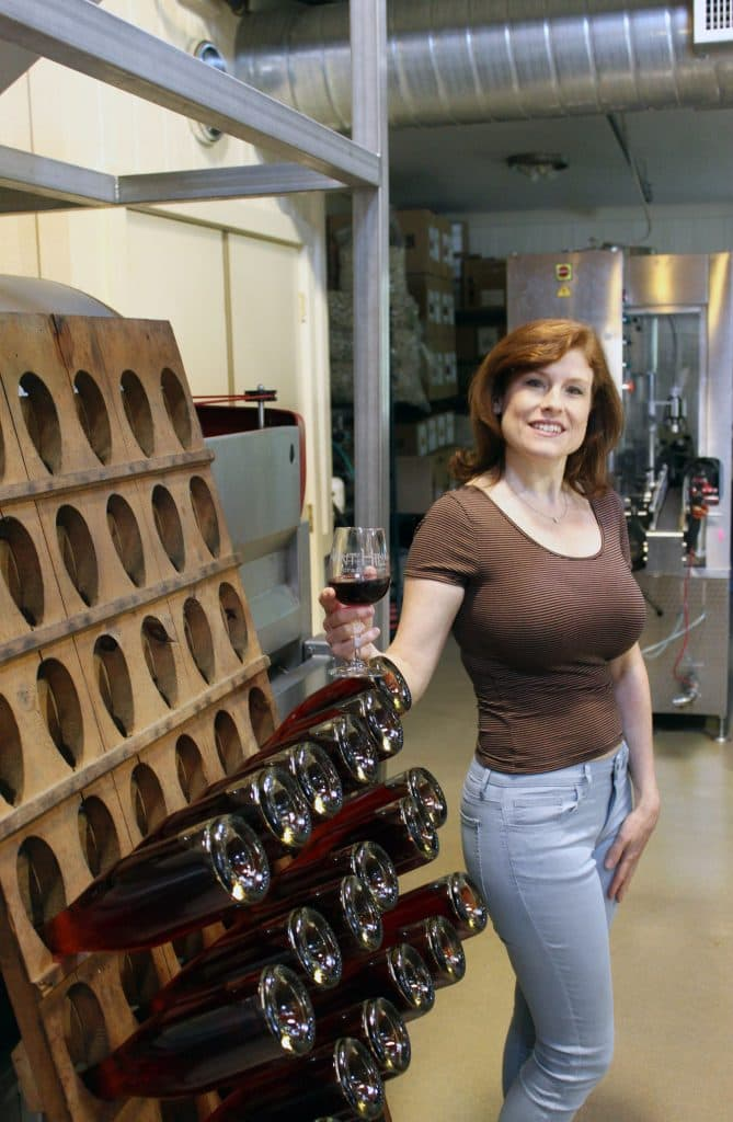 Vint Hill Craft Winery - Jana with Craft Wine