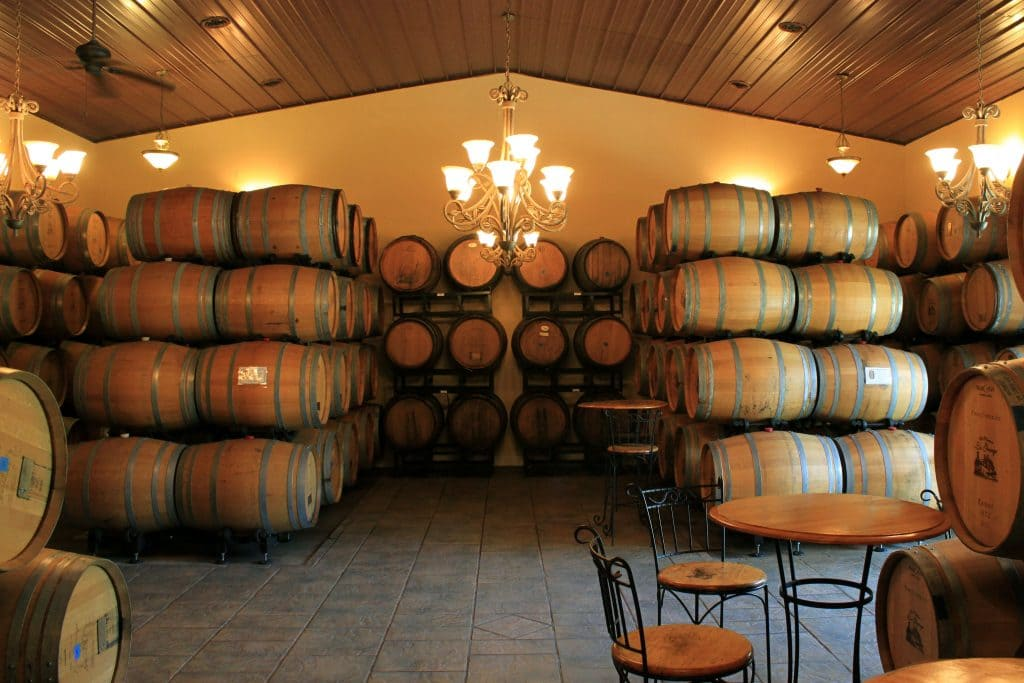 Winery at La Grange - Barrel Room