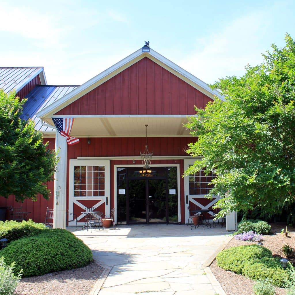 Winery at La Grange - Entrance to Barrel Room and Production Facility