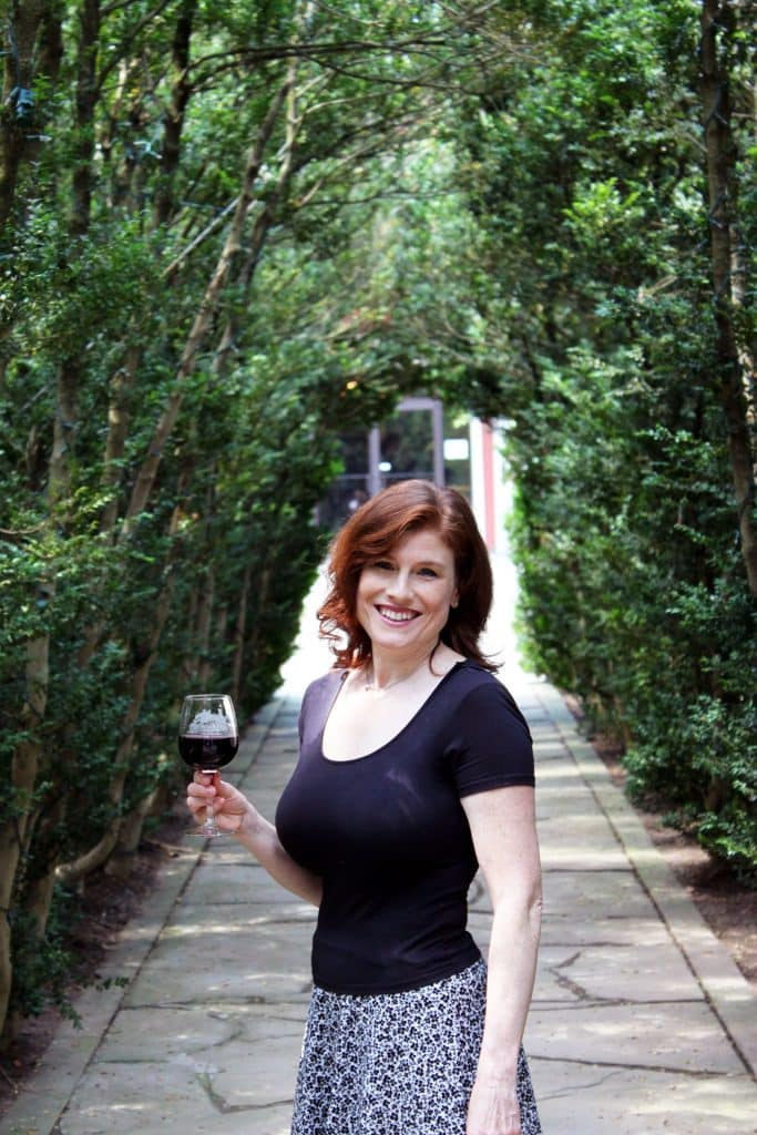 Winery at La Grange - Jana Among 200 Year Old Boxwoods