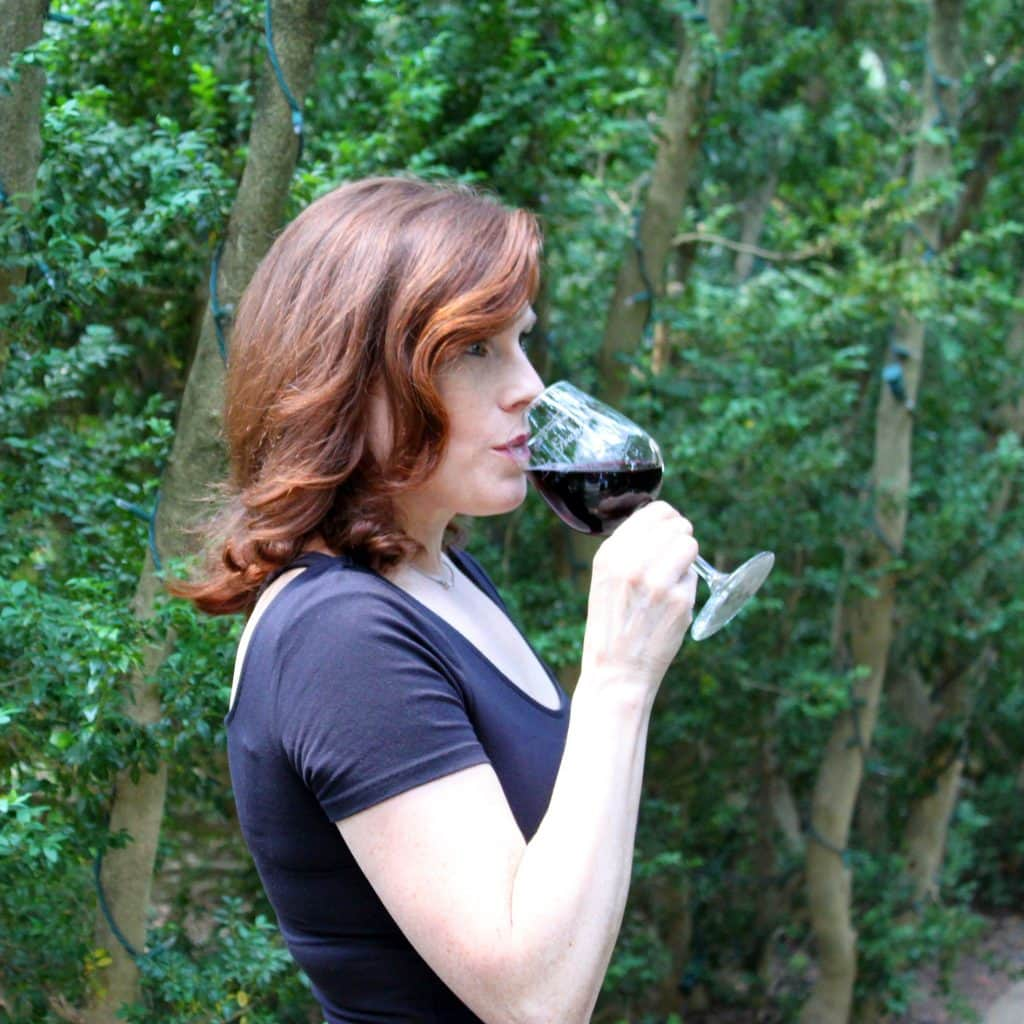 Winery at La Grange - Jana Drinking Benoni Red