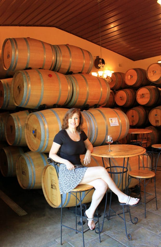 Winery at La Grange - Jana Tasting in Barrel Room