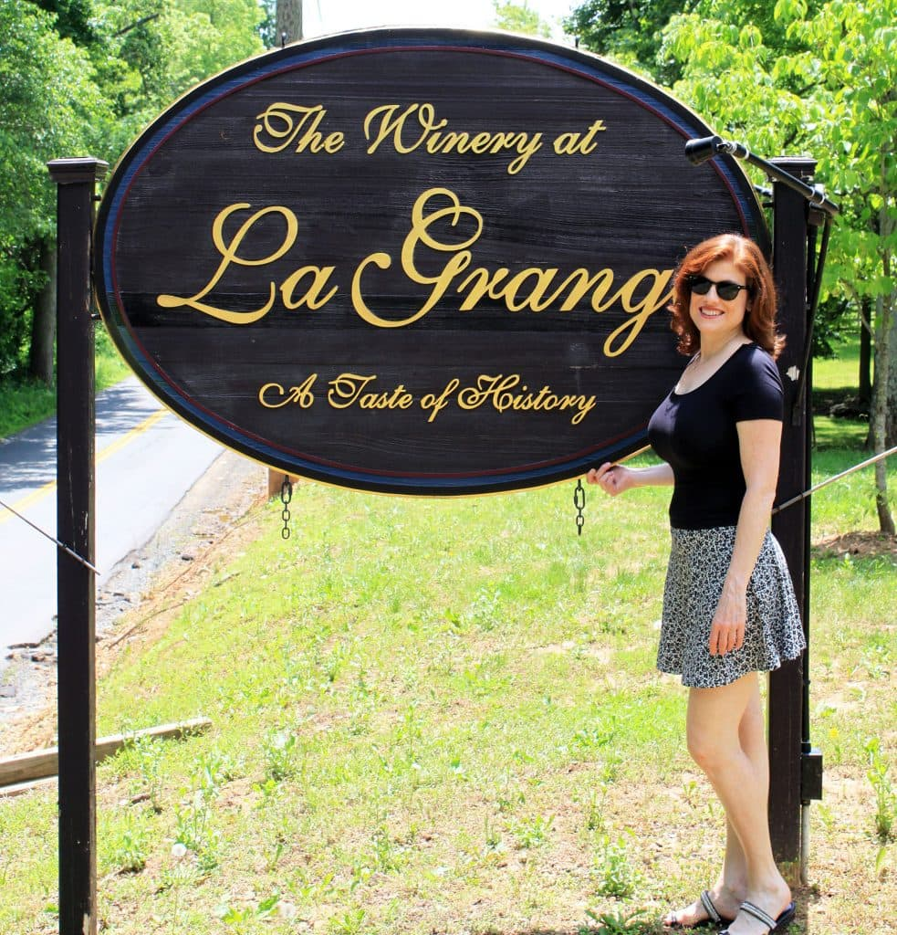 Winery at La Grange - Sign
