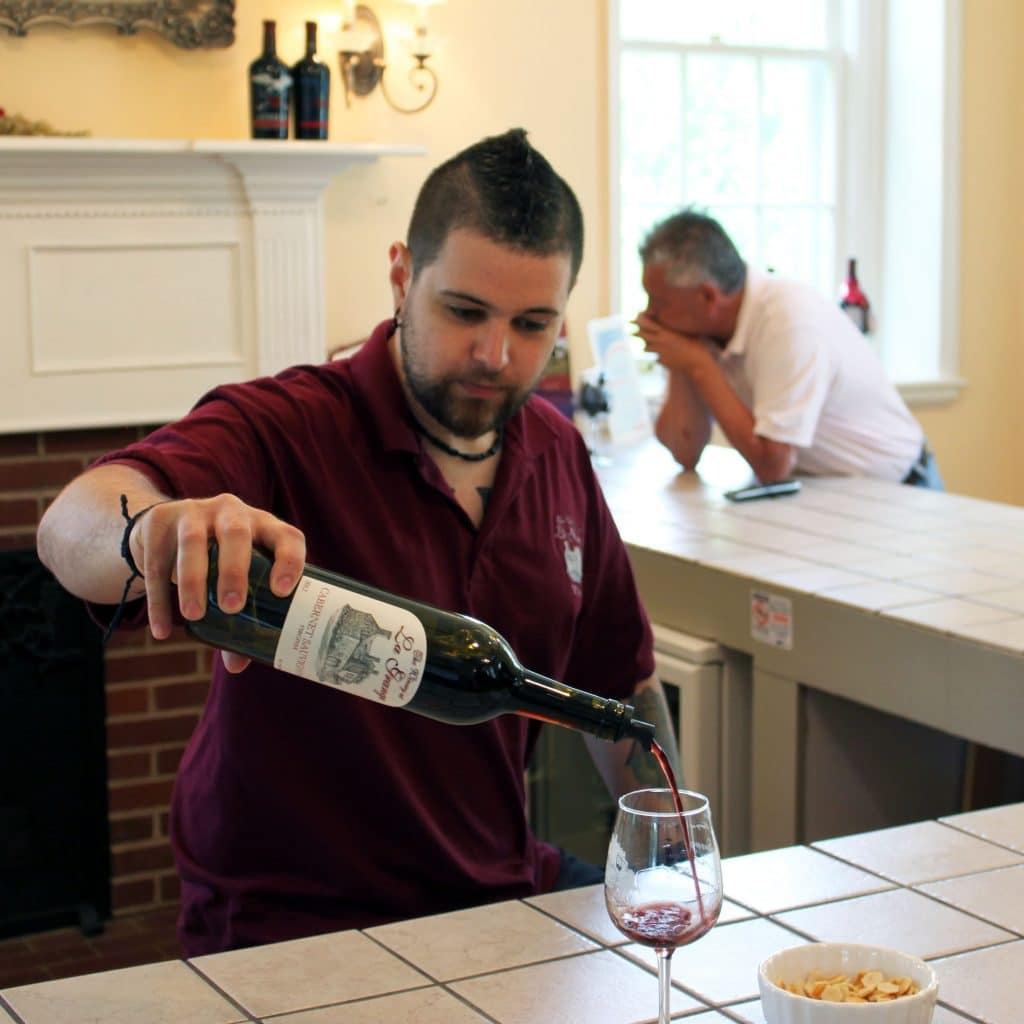 Winery at La Grange - Zach Pouring