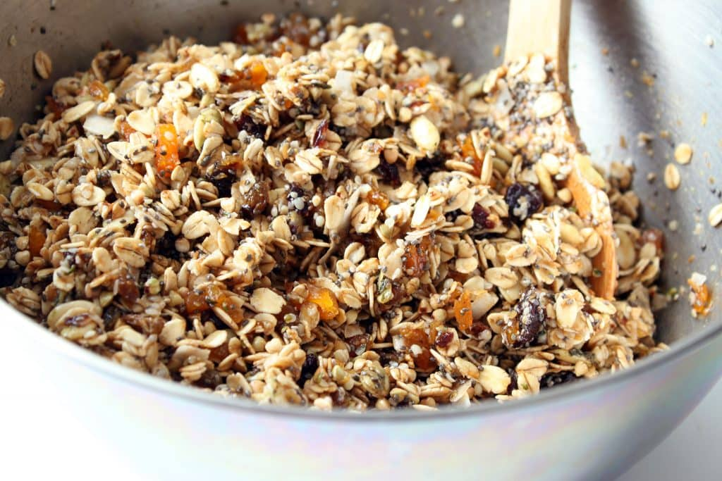 Alpha Omega Granola - Combined Ingredients