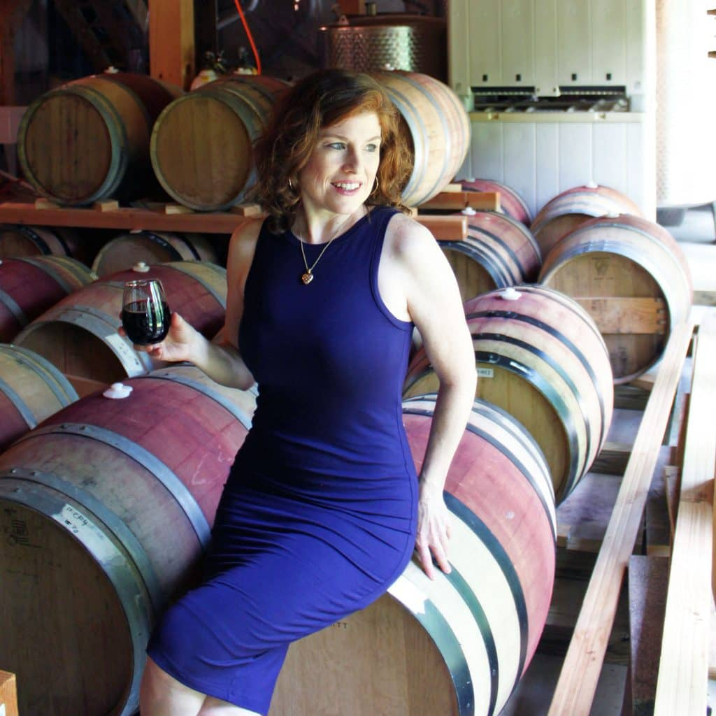 Arterra Wines - Jana in Barrel Room