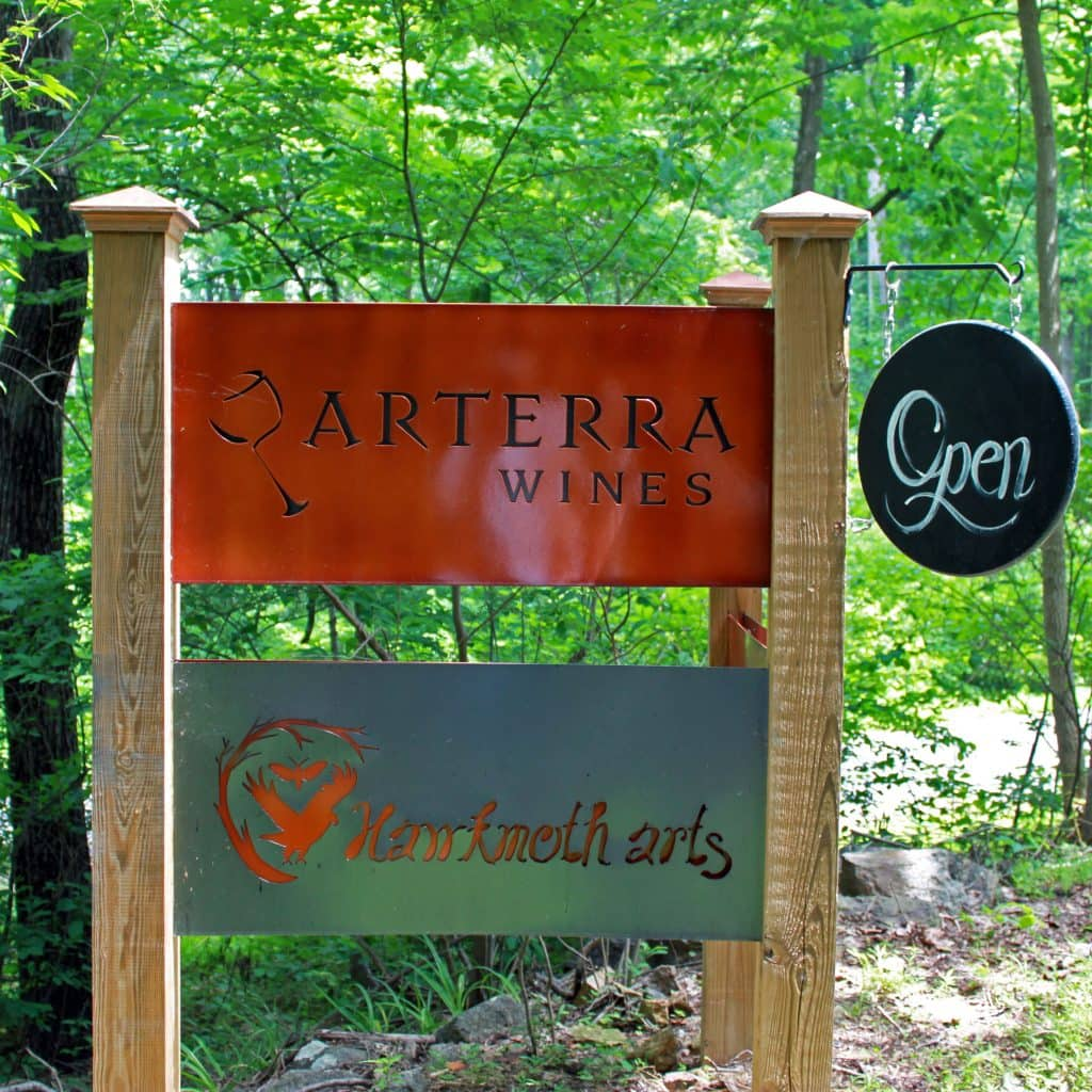 Arterra Wines - Welcome Sign