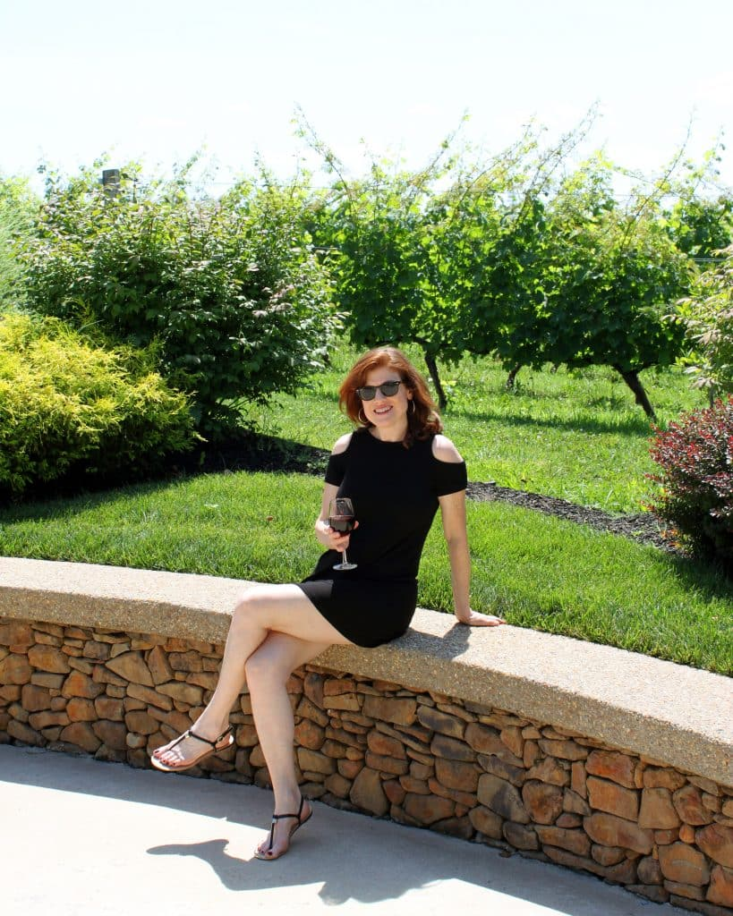 Morais Vineyards & Winery - Jana in Front of Vines