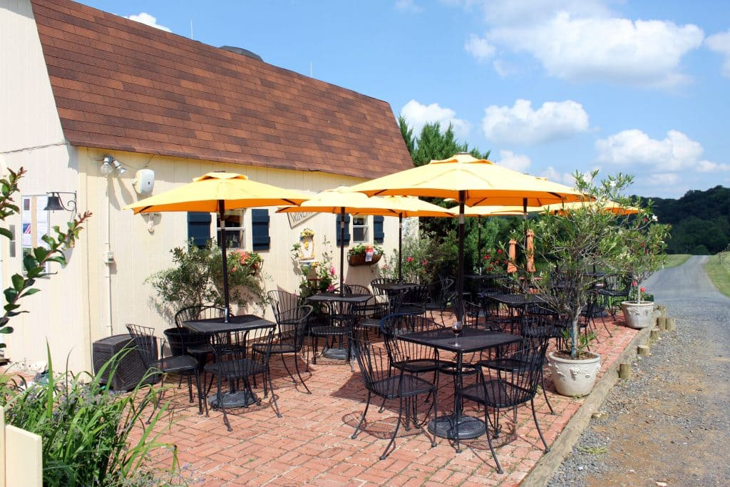 Three Fox Vineyards - Patio