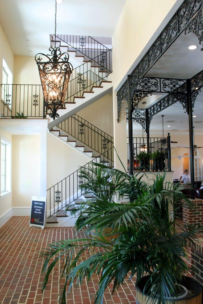 Breaux Vineyards - Foyer Staircase