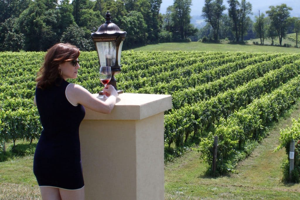 Breaux Vineyards - Jana Overlooking Vines