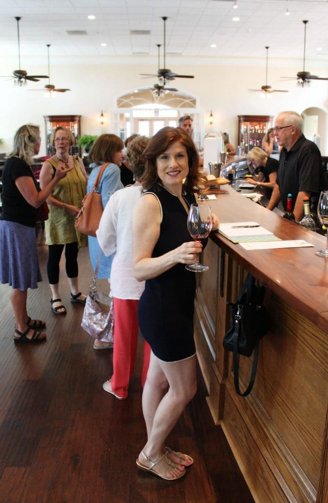 Breaux Vineyards - Jana at Tasting Bar