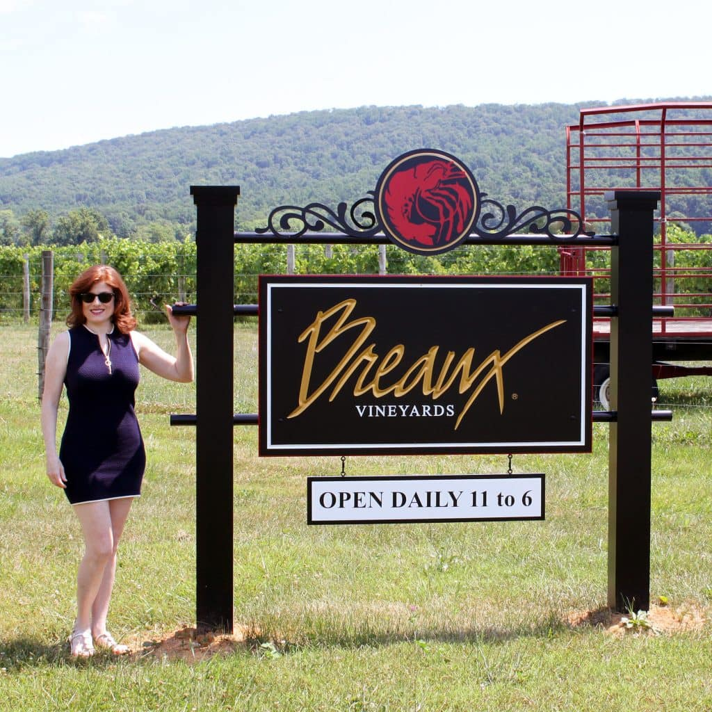 Breaux Vineyards - Welcome Sign