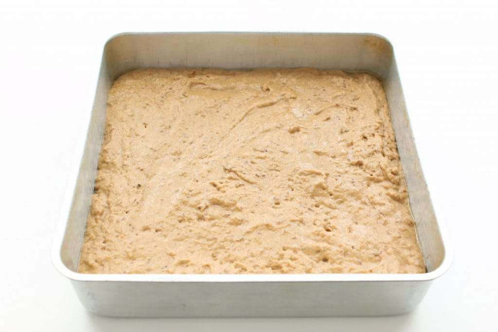 Gluten Free Coffee Cake - Batter in Pan