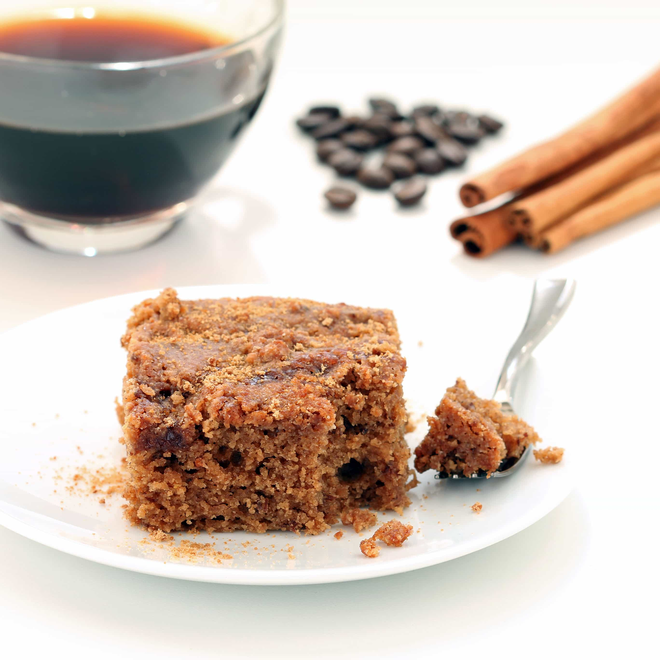 Gluten Free Coffee Cake (Plant-based, Refined Sugar-free)