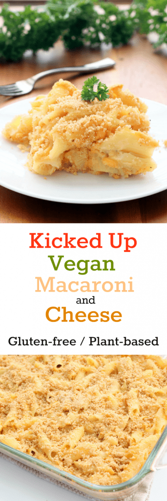 Kicked Up Vegan Macaroni and Cheese Collage