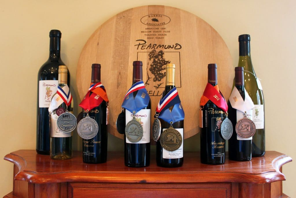 Pearmund Cellars - Small Sample of Awards