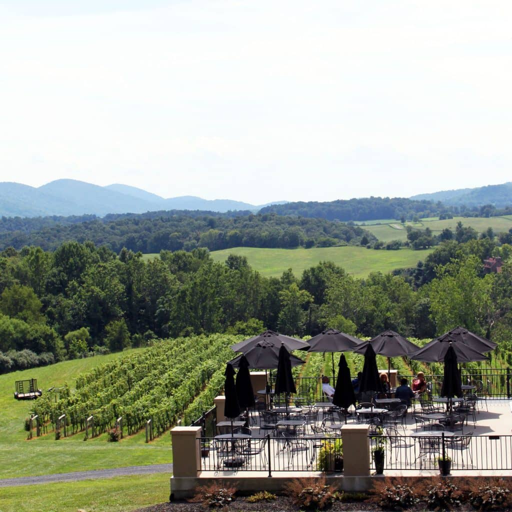 Delaplane Cellars - Patio Overlook