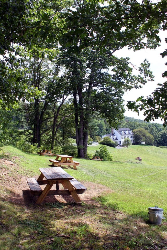 Delaplane Cellars - Seating for Visitors with Outside Food