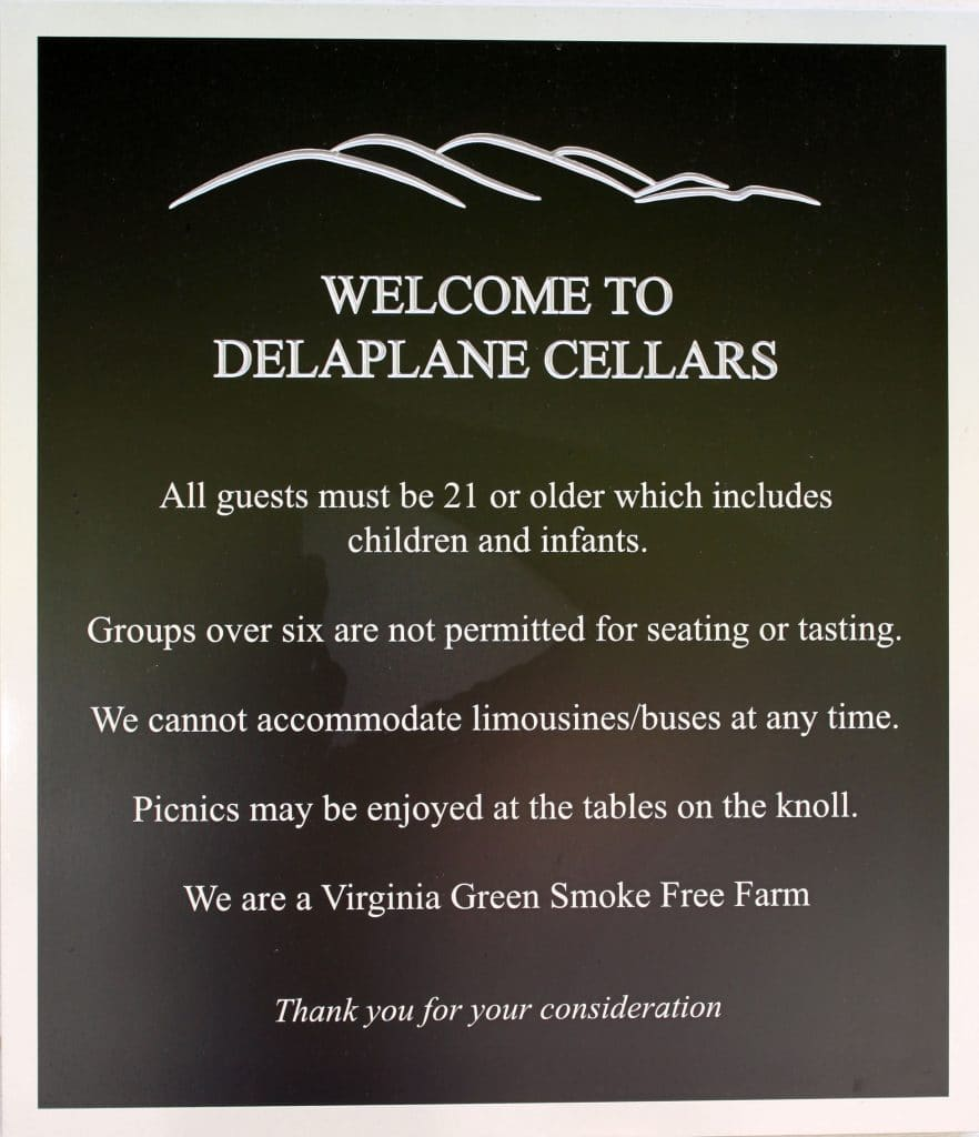 Delaplane Cellars (more) Rules