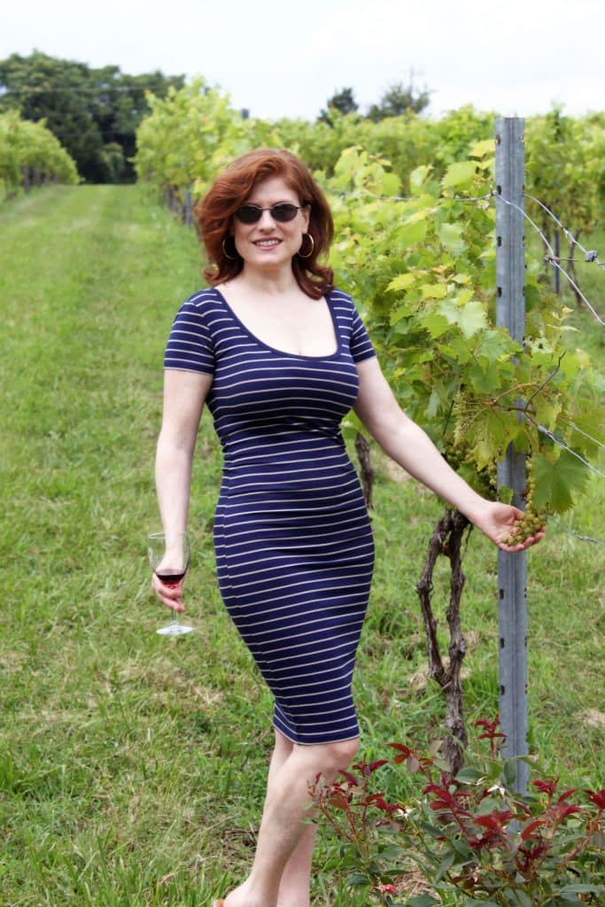 Molon Lave Vineyards - Jana in Vines