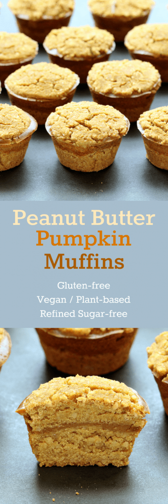 Peanut Butter Pumpkin Muffins Collage