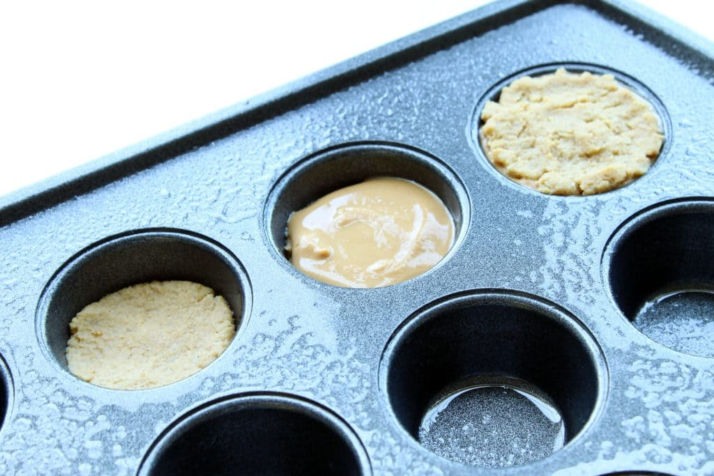 Peanut Butter Pumpkin Muffins - Three Step Muffin Layers