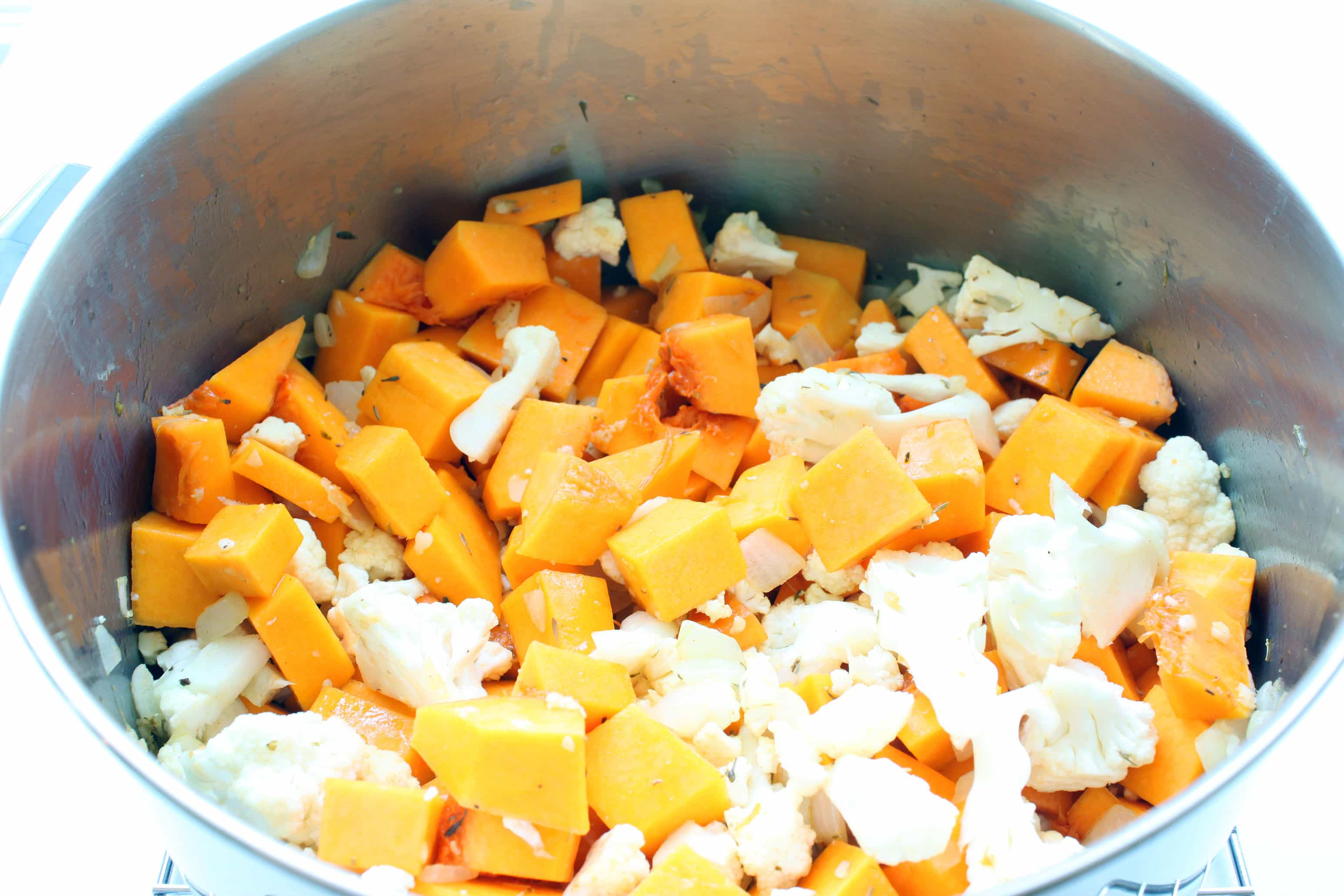 Saute with Butternut Squash and Cauliflower