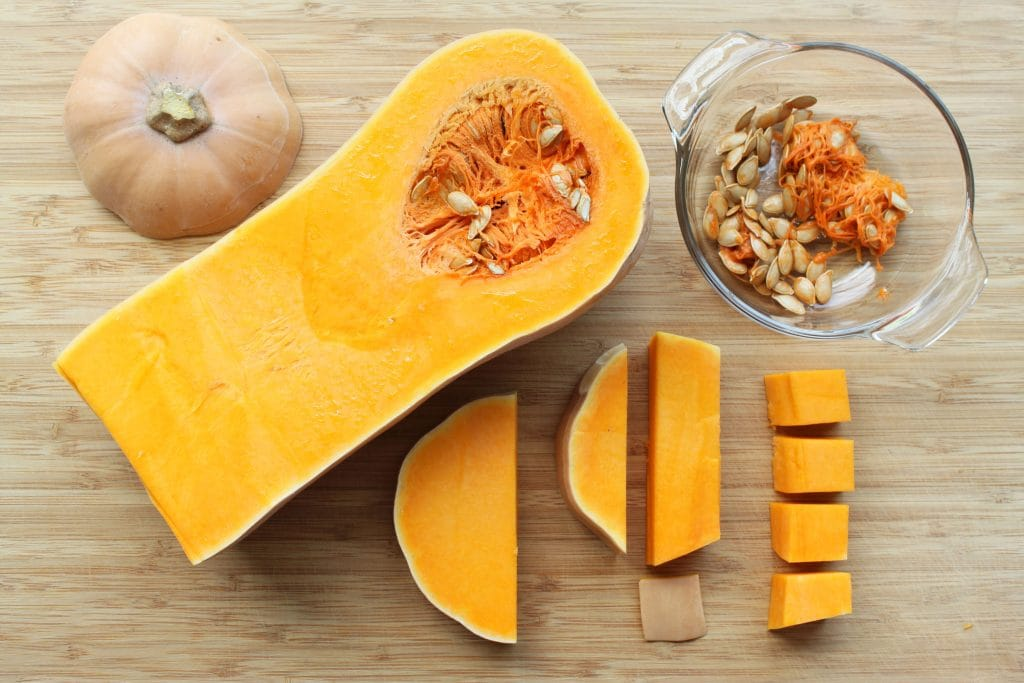Butternut Squash Cutting Steps