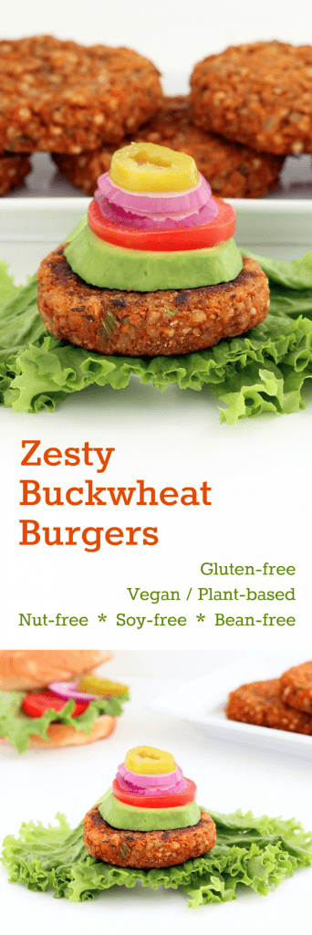 Zesty Buckwheat Burgers Collage