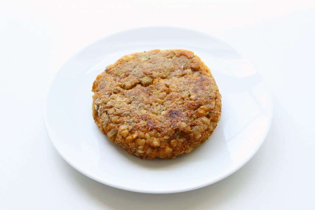 Zesty Buckwheat Burger - Pan Cooked