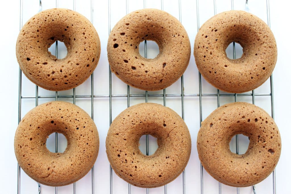 Easy Baked Cinnamon Donuts - Cooling