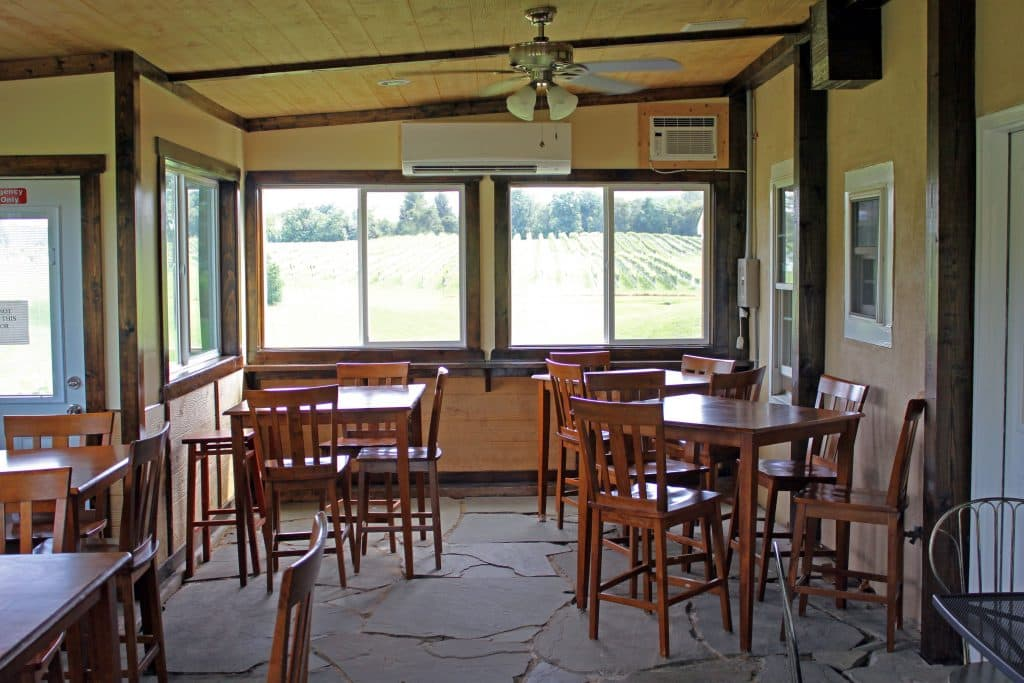 Miracle Valley Vineyard - Sunroom Tasting Area