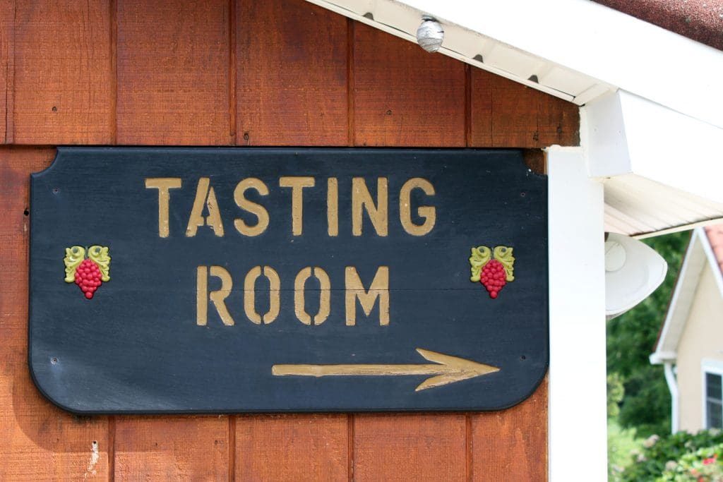 Miracle Valley Vineyard - Tasting Room Sign