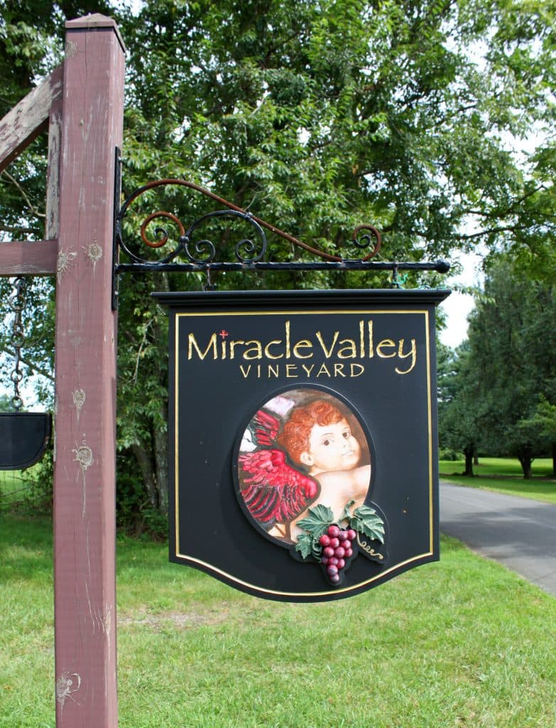 Miracle Valley Vineyard - Welcome Sign