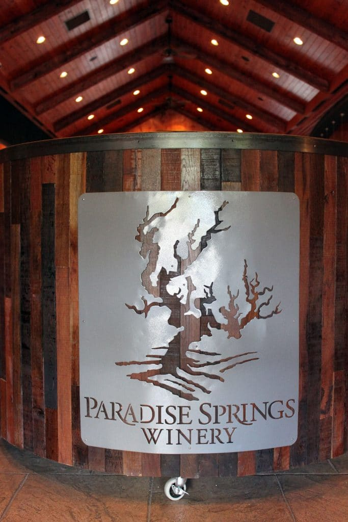 Paradise Springs Winery - Welcome Station