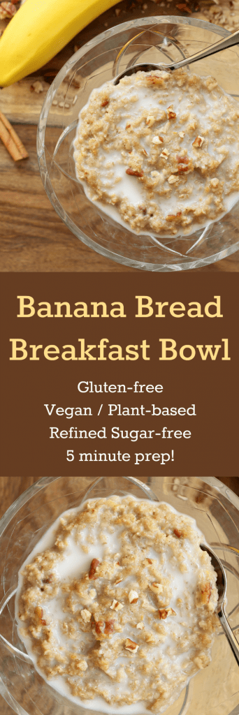 Banana Bread Breakfast Bowl - Collage