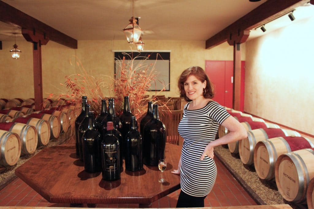 Barboursville Vineyards - Jana in Octagon Barrel Room