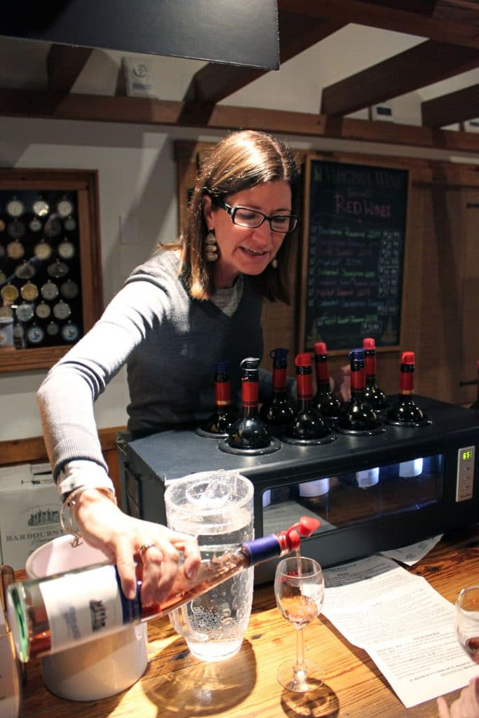 Barboursville Vineyards - Phyllis Pouring Rosato