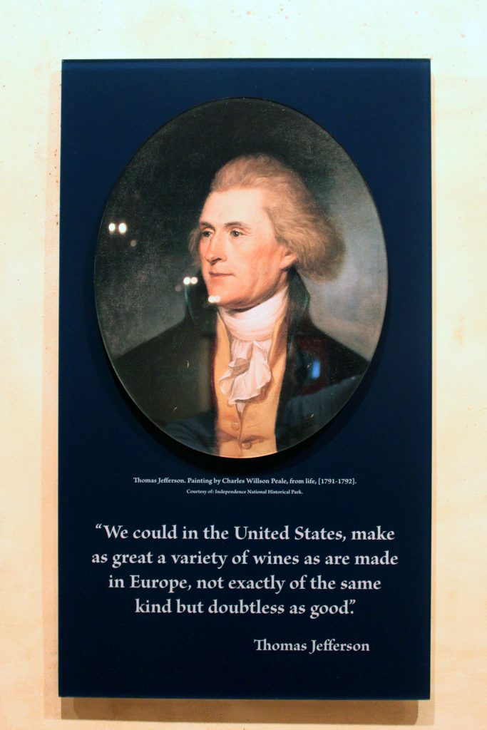 Barboursville Vineyards - Thomas Jefferson Quote