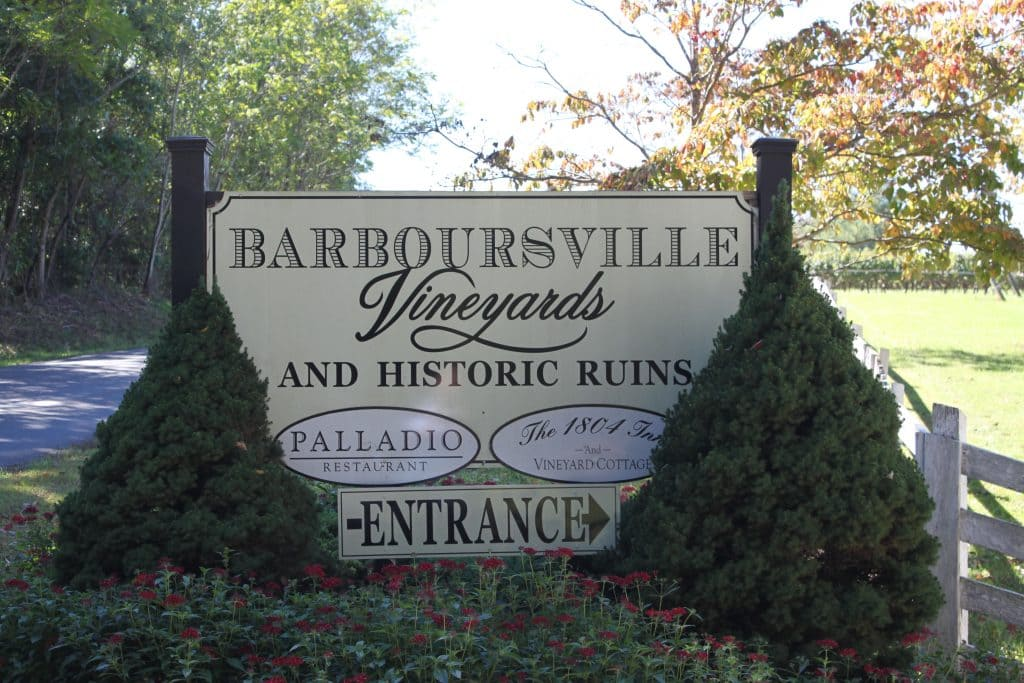 Barboursville Vineyards - Welcome Sign