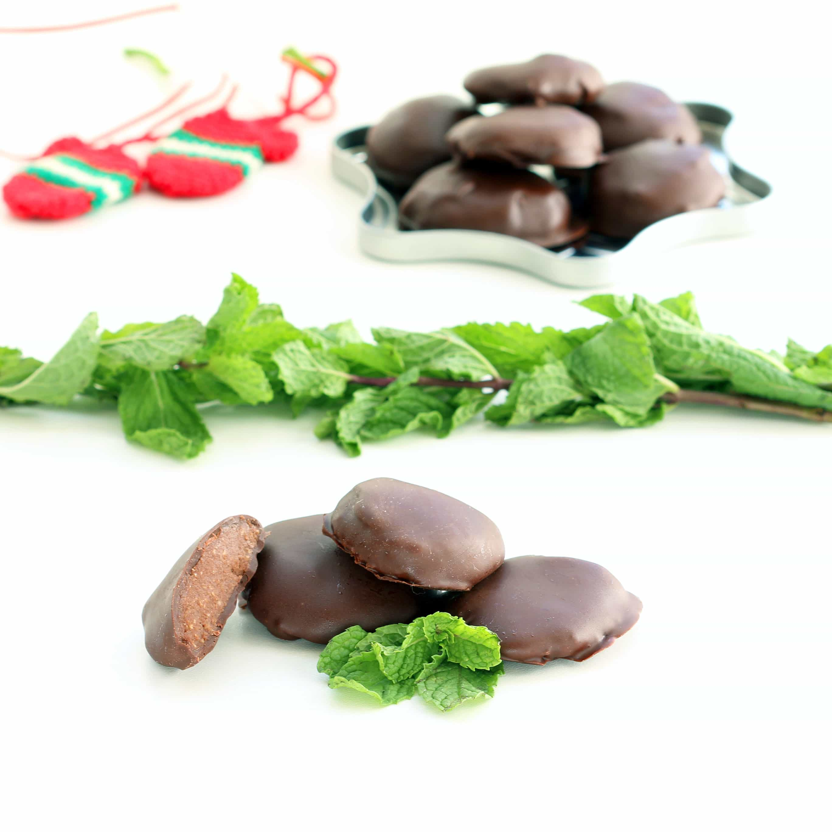 Double Chocolate Peppermint Patties (Gluten-free, Plant-based / Vegan, Refined Sugar-free)