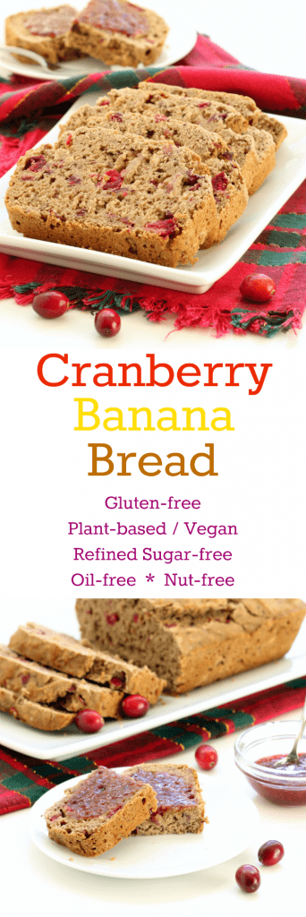 Gluten Free Cranberry Banana Bread - Collage