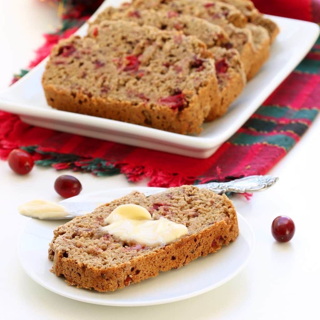 Gluten Free Cranberry Banana Bread - With Vegan Butter