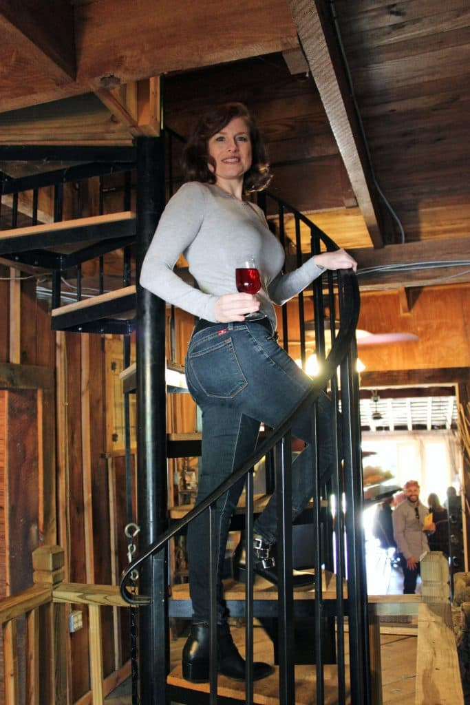 Aspen Dale Winery at the Barn - Spiral Staircase to Loft
