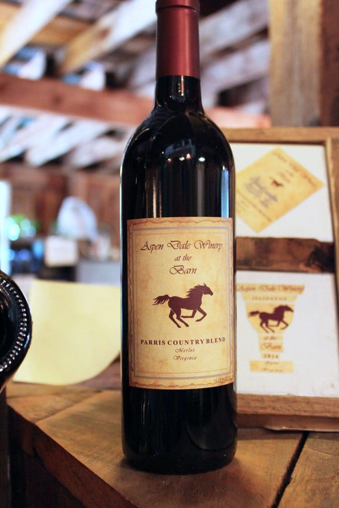 Aspen Dale Winery at the Barn - Parris Country Blend