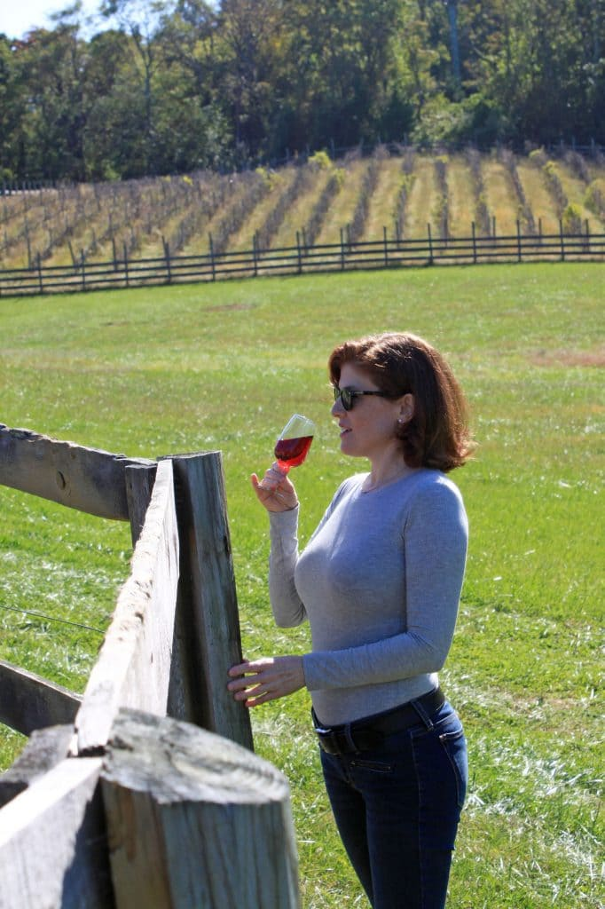Aspen Dale Winery at the Barn - Jana Sipping in Fields