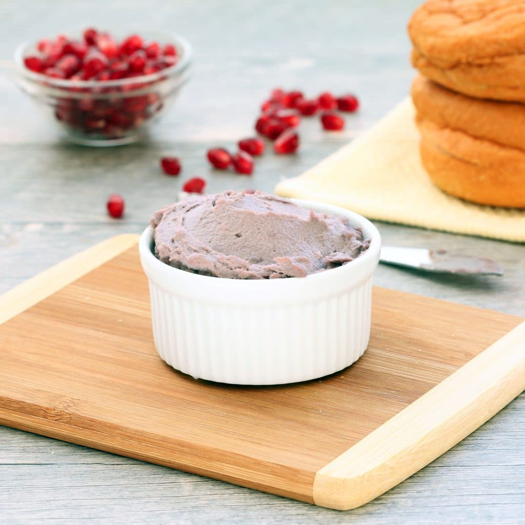 Pomegranate Vegan Cream Cheese - In Bowl